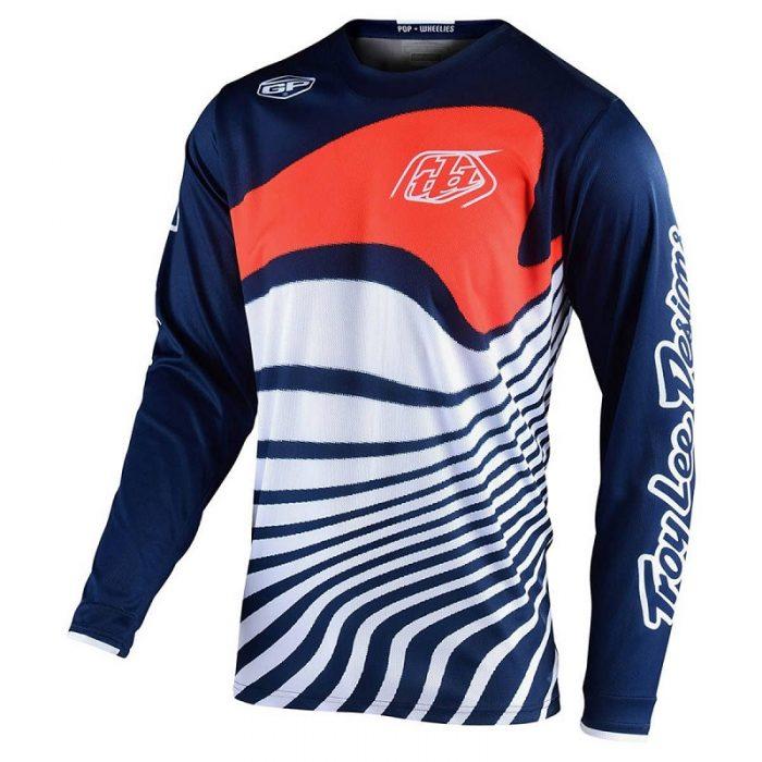 Блуза Troy Lee Designs GP Drift Navy/Orange