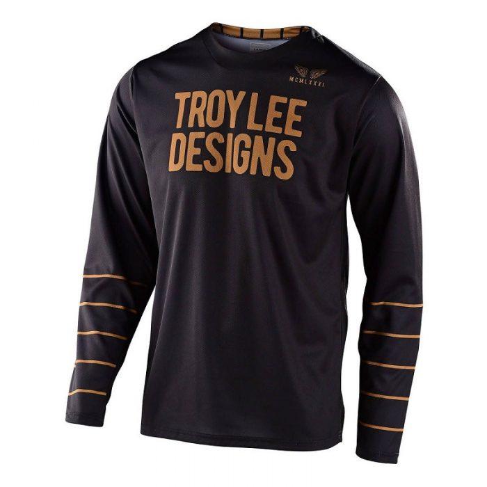 Блуза Troy Lee Designs GP Pinstripe Black/Gold