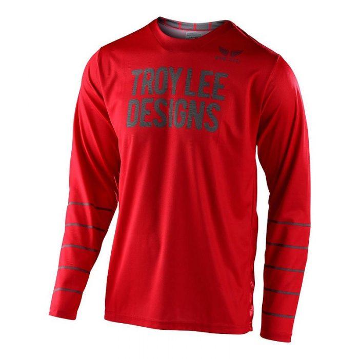 Блуза Troy Lee Designs GP Pinstripe Red/Black