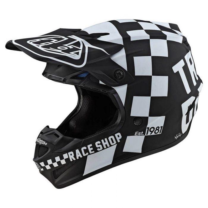 Какса Troy Lee Designs SE4 Polyacrylite Checker Black/White