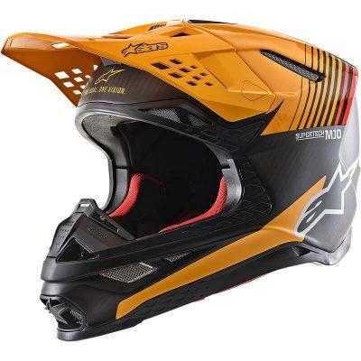 Каска Alpinestars Supertech M10 Dyno Black/Orange