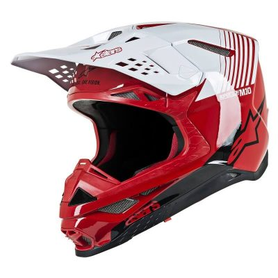 Каска Alpinestars Supertech M10 Dyno Red/White