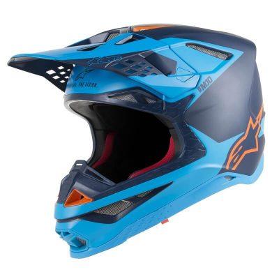 Каска Alpinestars Supertech M10 Meta Blue/Orange