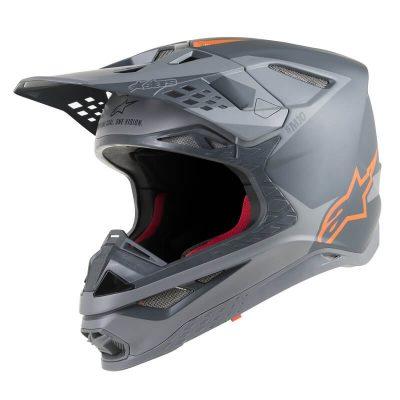 Каска Alpinestars Supertech M10 Meta Gray/Orange