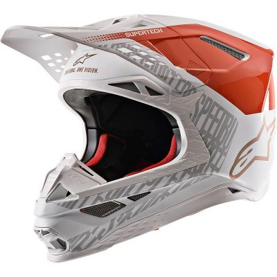 Каска Alpinestars Supertech M8 Triple Orange/White