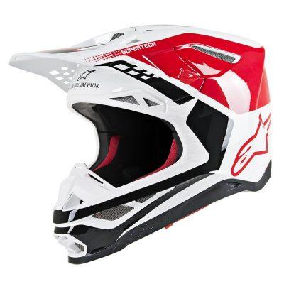 Каска Alpinestars Supertech M8 Triple Red/White