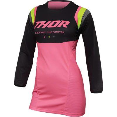 Дамска блуза THOR Pulse Rev Charcoal/Flo Pink