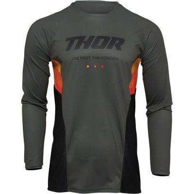 Блуза THOR Pulse React Army/Black