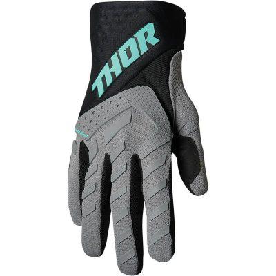 Ръкавици THOR Spectrum Gray/Black/Mint