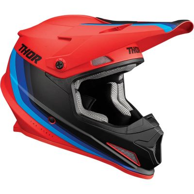 Каска THOR Sector Runner Mips Red/Blue